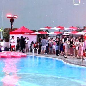 〈ANAインターコンチネンタルホテル東京〉の夏季限定プール『#MUMMBEACHCLUB』。