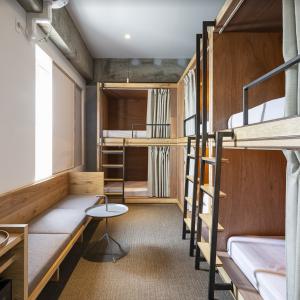 6名まで泊まれる2段ベッドタイプのBUNK 6。