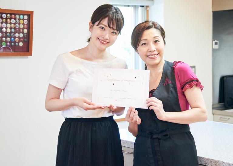 東さんはカナッペ風の前菜を作って、見事合格!