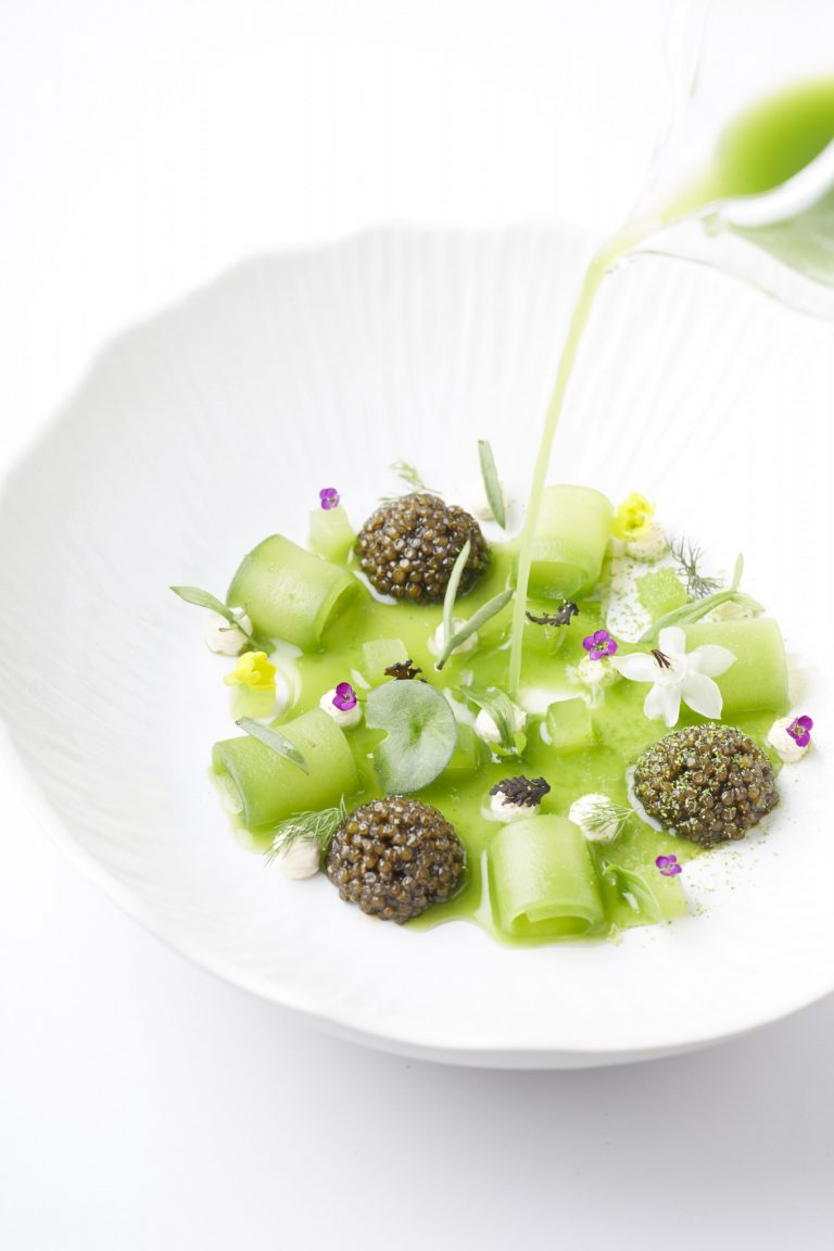 Cucumber with Oscietra Caviar