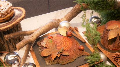 「冬の森」を表現した〈ウェスティンホテル東京〉のクリスマスケーキ …