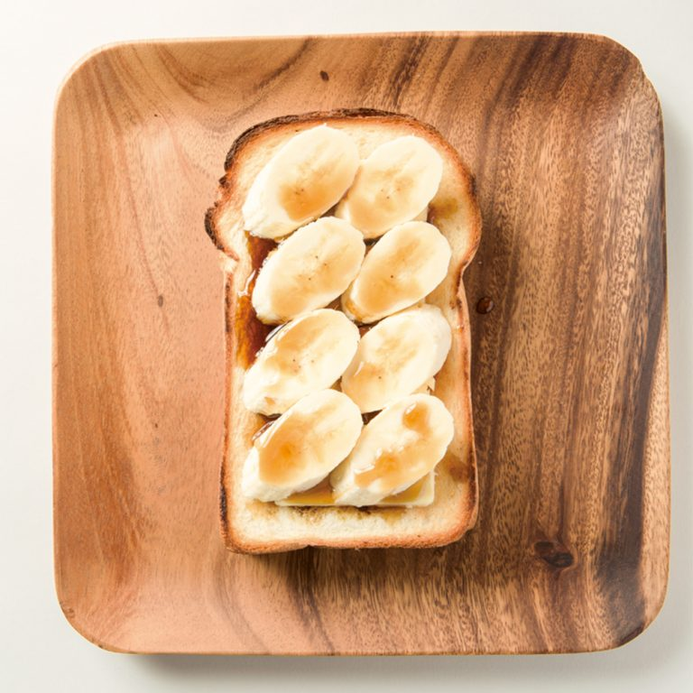 """「""""超""""厚切りバナナトースト」"""