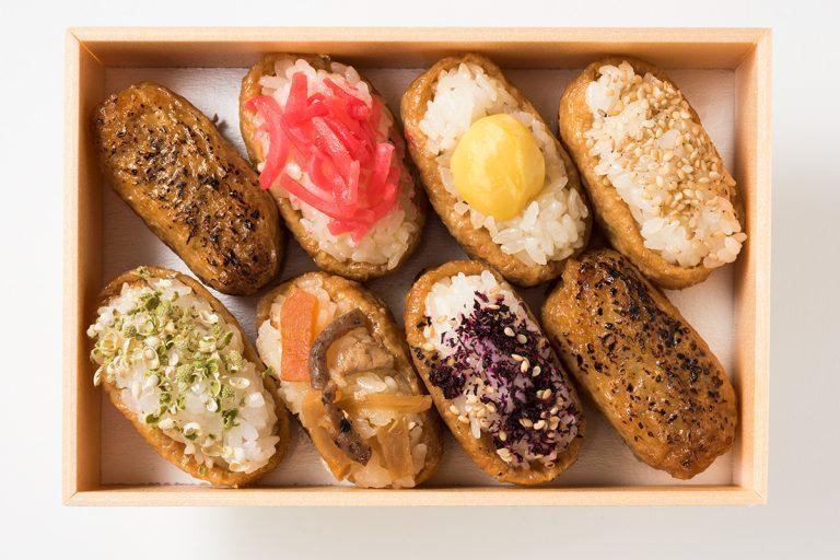 「いなり寿司 六歌仙容彩」6種8個入り1,500円(税込)