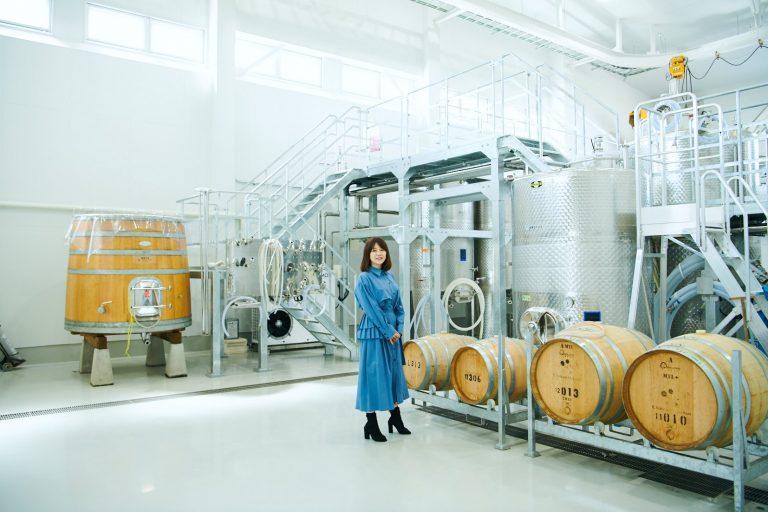 ブドウを選別し、醸造工程に入る作業場も見学できる。