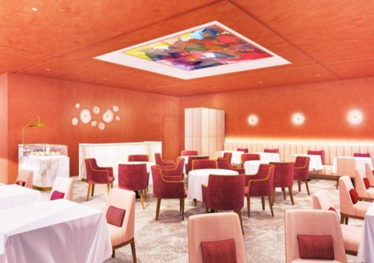 天井が高く素敵なインテリアで、デザートへのワクワク感が募る。