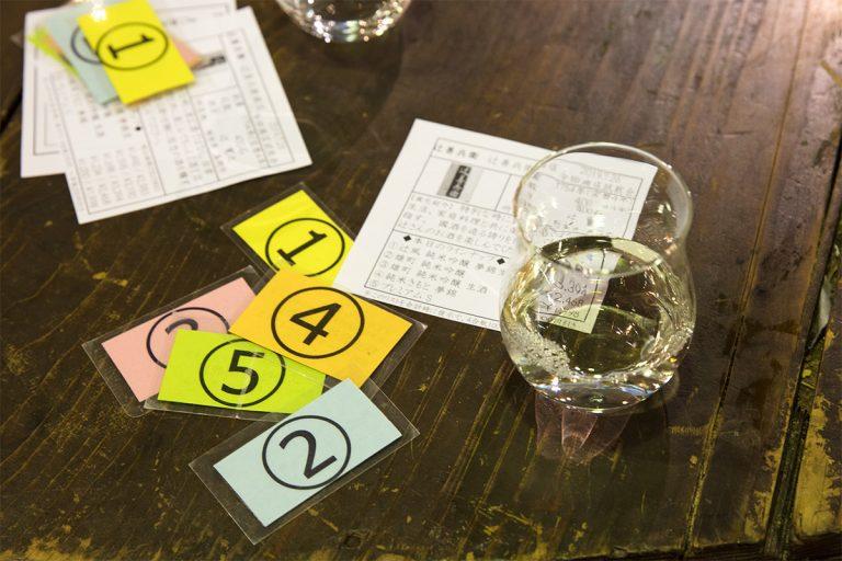 月1~2回開催される利き酒イベントでは参加者による投票も行われる。