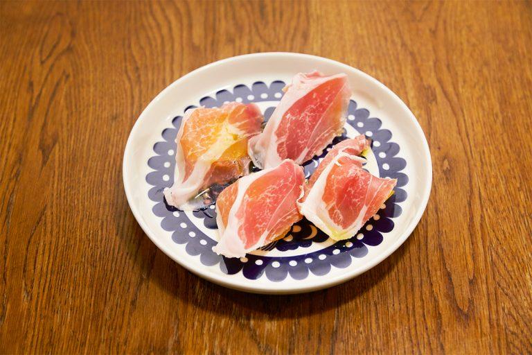 「柿とパルマ産生ハム」1,700円