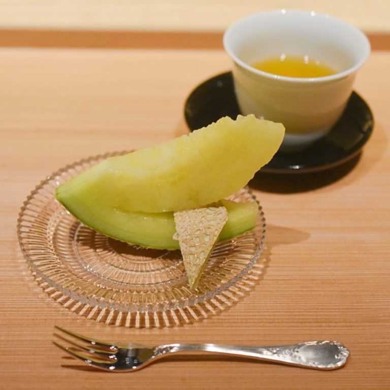 「水菓子と桂花烏龍茶」。