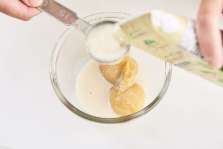 「玄米角もちの豆乳白みそグラタン」