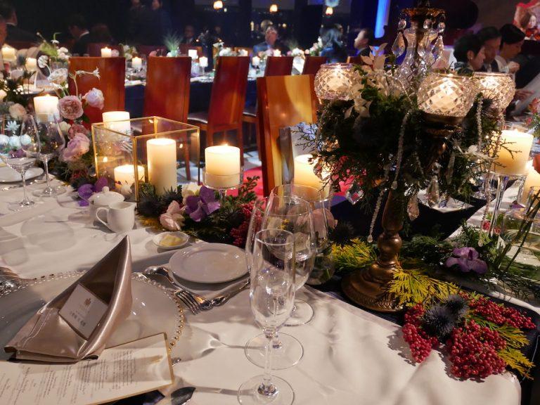 結婚式の見所のひとつ、ハプスブルク式テーブルコーディネート。