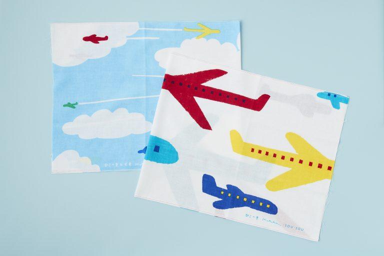 〈SOU・SOU〉の「手拭い 飛行機・雲」