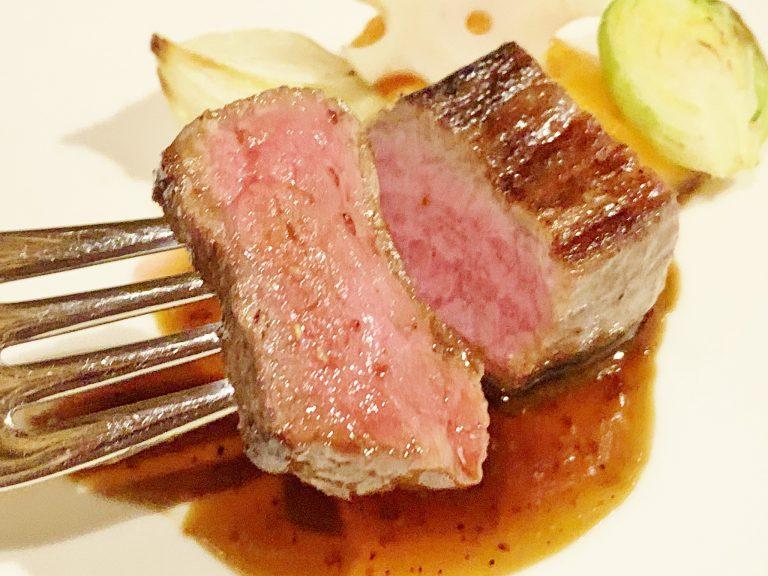 柔らかくて脂がジューシーな「佐賀牛ランプ肉」。