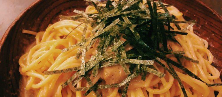 タラコとウニの組み合わせがクセになる!恵比寿〈アンクル・トム〉の濃厚納豆パスタを召し上がれ。