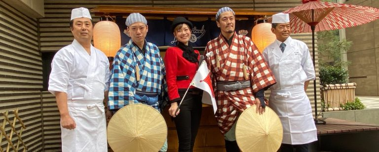 現代の3倍サイズの江戸前寿司が登場!『日本橋シアトリカルツアー』体験イベント。