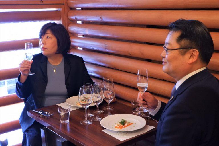 長崎知事と林さんもマリアージュを堪能。