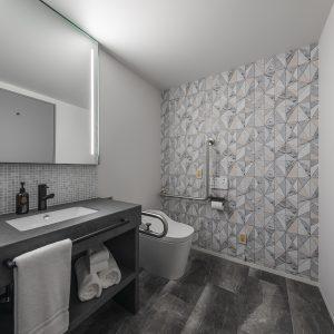 すべての部屋には、独立したシャワー、トイレ、洗面化粧台を完備。