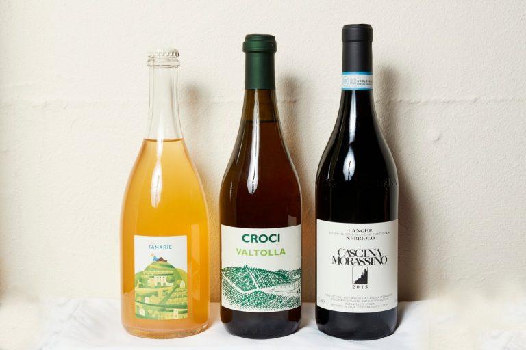 オーガニックのイタリアンワインはボトル5,000円〜。単一品種のものが主。