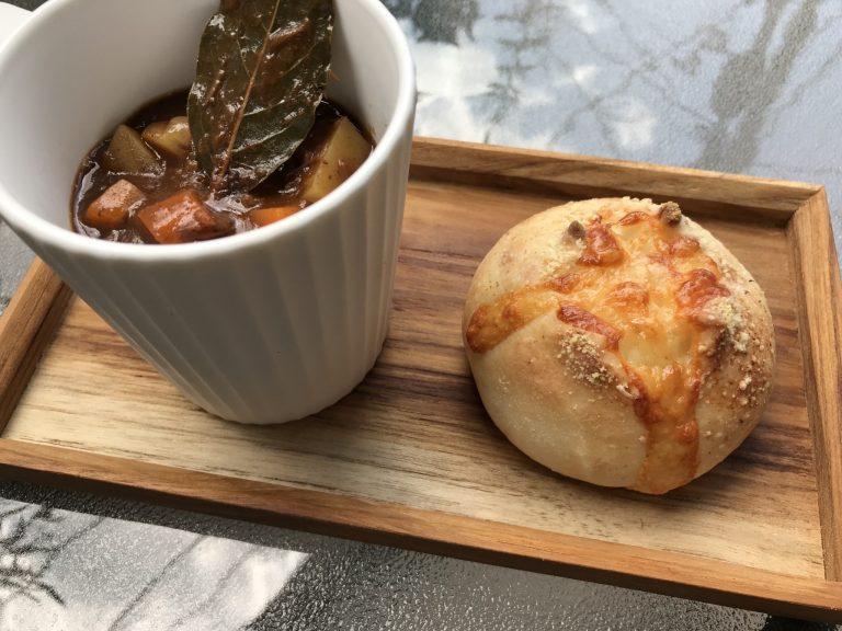 蝦夷鹿のシチュー&チーズパン