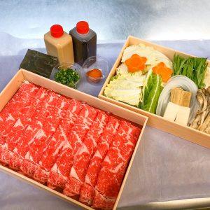 「霜降り国産牛しゃぶしゃぶセット」(割り下付き)3,000円。しゃぶ禅特製胡麻だれ、ポン酢、薬味、出汁昆布付き。※写真はイメージです。