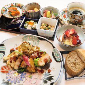 都産食材の魅力を伝える〈和食器フレンチKomorebi〉の贅沢フレンチ。
