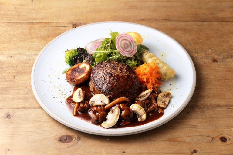 淡路産牛挽肉のハンバーグステーキ