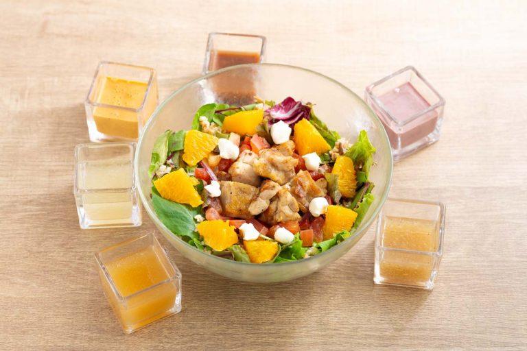 グリルチキンとオレンジのサラダ (2)