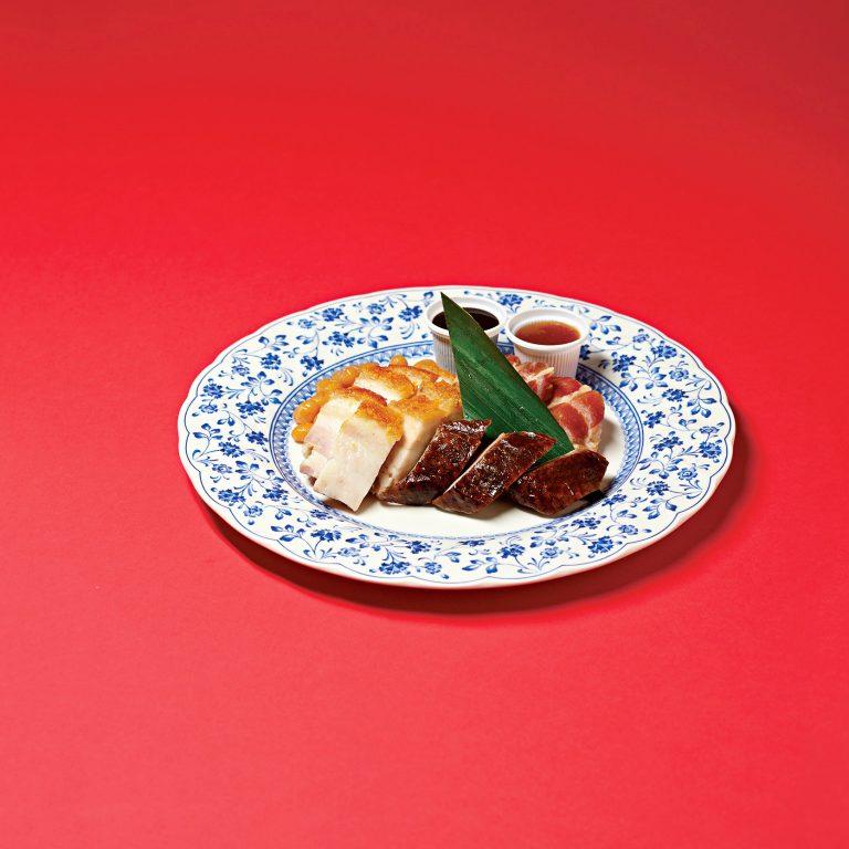 〈赤坂璃宮 銀座店〉の 焼き物前菜の盛り合わせ