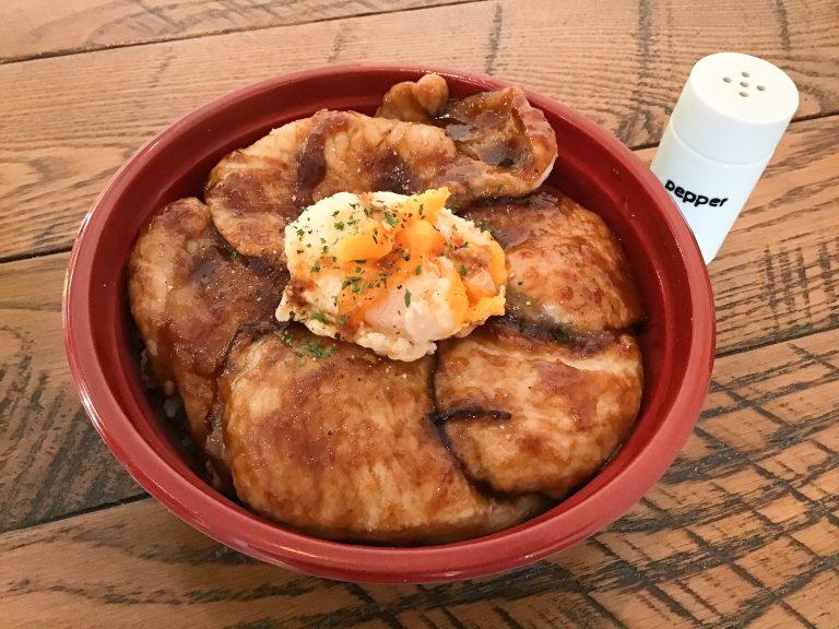 甘辛 豚玉子丼-2