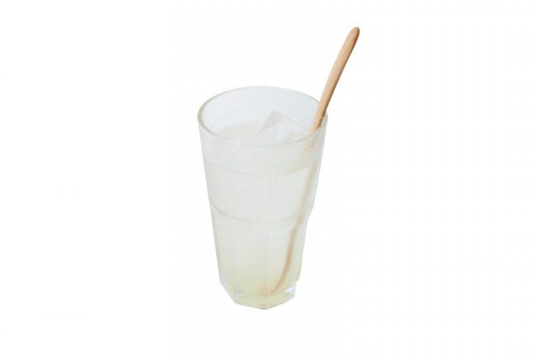 季節の自家製シロップは優しいジュースに。650円。