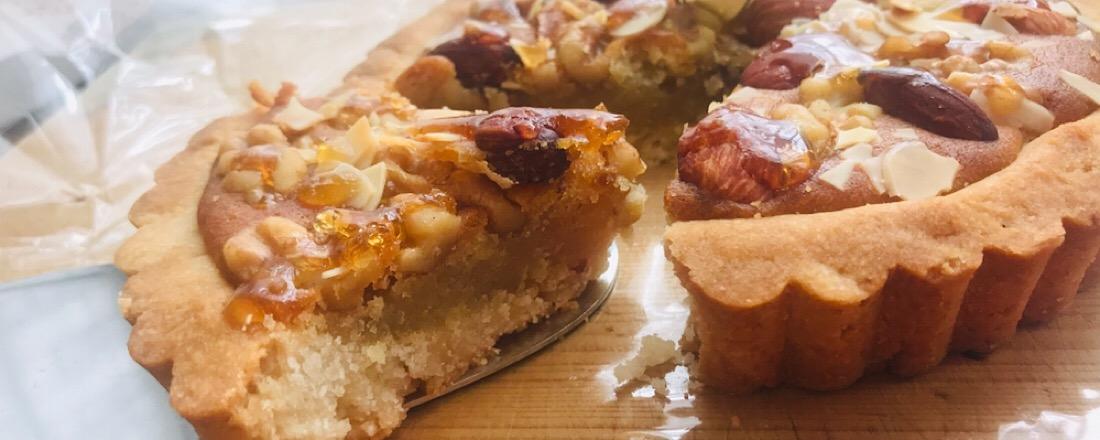 横浜の米粉パン専門店〈Ange pastry〉の「アーモンドと胡桃のタルト」をお取り寄せ!