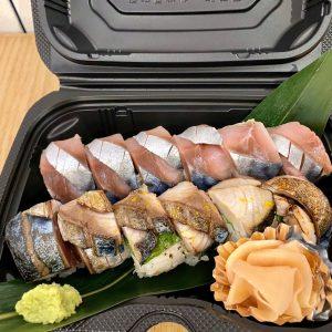 「〆さばの棒寿司」1,500円(税込)。5/20現在、さばの産卵期で質が落ちるため休止中。再開は電話で問い合わせをお願いします。