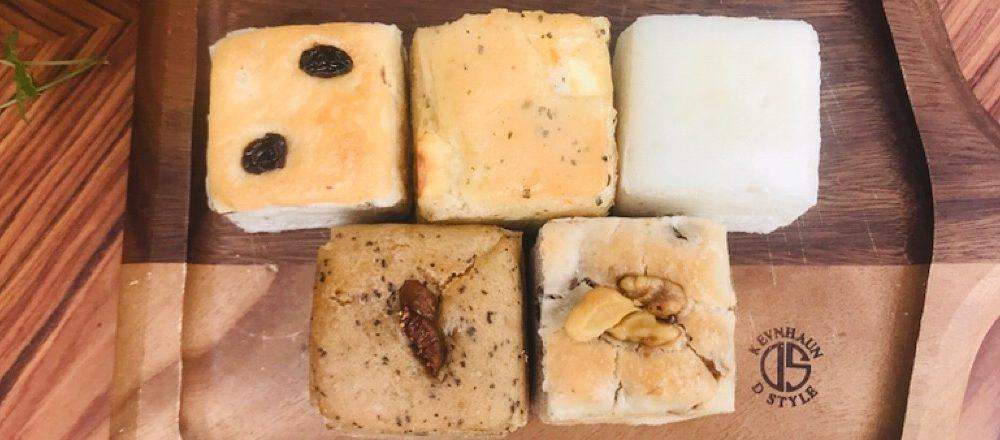 戸越の米粉パン専門店〈米魂〉のキューブパンとシフォンケーキをお取り寄せ。