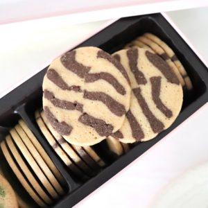どのクッキーも大理石模様が均等で美しい。