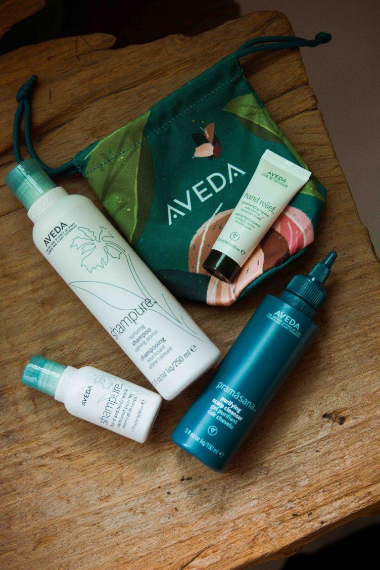 〈AVEDA〉はお気に入りブランドの一つ。