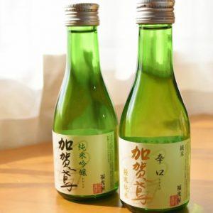 男女問わず人気が高いのは「加賀鳶 」。 値段も手ごろなので日常酒としてもお勧め。まずは2種の味を飲み比べてみましょう。  ・加賀鳶 純米吟醸 180mL 1本 契約栽培の山田錦と金紋錦にこだわり、丹念に仕込んだ純米吟醸酒。豊かに広がる吟醸香と、お米の旨味がいきたキレの良い飲み口が特徴。フルーティーなのに呑み飽きず、とてもバランスの良いのが特徴。  ・加賀鳶 極寒純米 辛口 180mL 1本 厳冬の時期に低温醗酵でじっくり仕上げたキレの良い純米酒。お米の旨味が広がるウマ辛いお酒です。 純米酒の定番としてビギナーから酒通に至るまで、全国のお酒好きから幅広く支持されているそう。