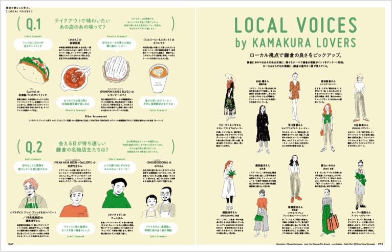 ローカル視点で鎌倉の良さをピックアップ。鎌倉にゆかりのある10名の女性に、様々なテーマで鎌倉の素敵ポイントをアンケート取材。ローカルならではの情報に、鎌倉の意外な一面が見えてくる!