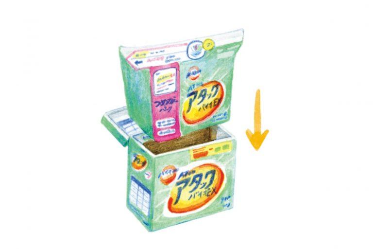 3.袋ごと箱に詰め替えるタイプ