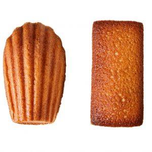 左:朝焼きマドレーヌ150円。右:朝焼きフィナンシェ150円。「外はさっくり、 中はふんわりの焼き菓子(スイーツOLなりさん)」