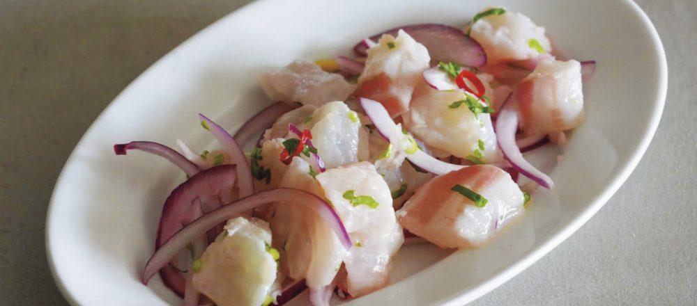 「湘南レモンと白身魚のセヴィーチェ」のレシピ。オイルを使わず柑橘でさっぱり爽やかに!