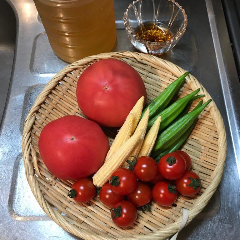 「夏野菜のお浸し」のレシピ