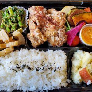 「唐揚げ弁当」800円。