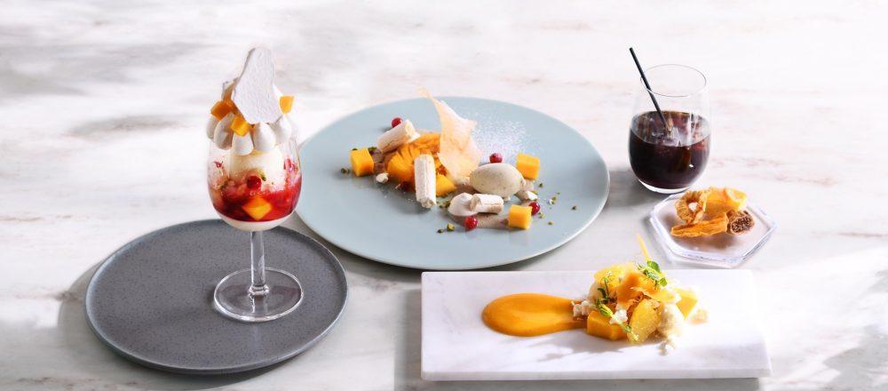 今季はジューシーなマンゴー!〈Beauty Connection Ginza〉2階の〈Fruits Salon〉で旬のフルーツコースを味わう。