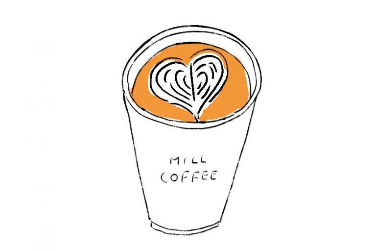 〈ミルコーヒー&スタンド 〉のカフェラテ