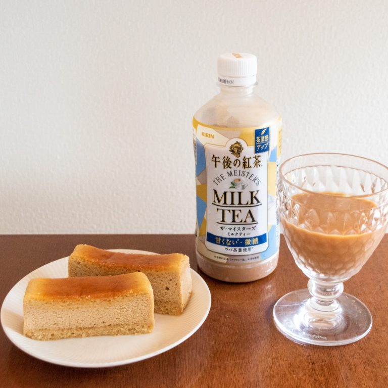 銀座コージーコーナー_チーズスフレ_午後の紅茶レモンティー2