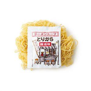 スープ付きの醤油ラーメン170円