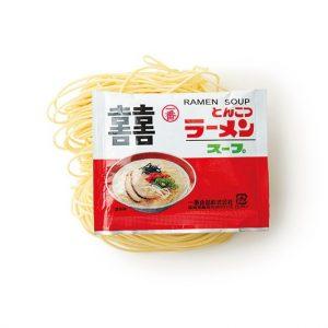 生中華麺各120円、とんこつラーメン180円。