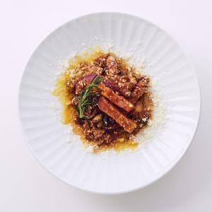 料理家さんたちが提案!ご当地おみやげのアレンジレシピ 「素焼きミックス大豆とアマトリチャーナ(トマト煮)」