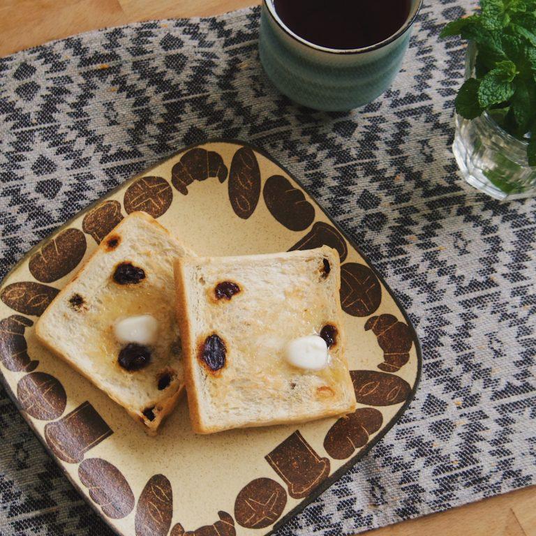 「レーズン角食パン」。