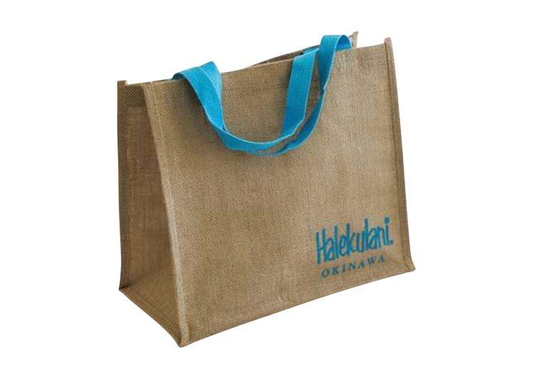 アメニティ③プールに行くときに重宝する、内側防水のバッグ。持ち帰って、普段の買い物にも使おう。