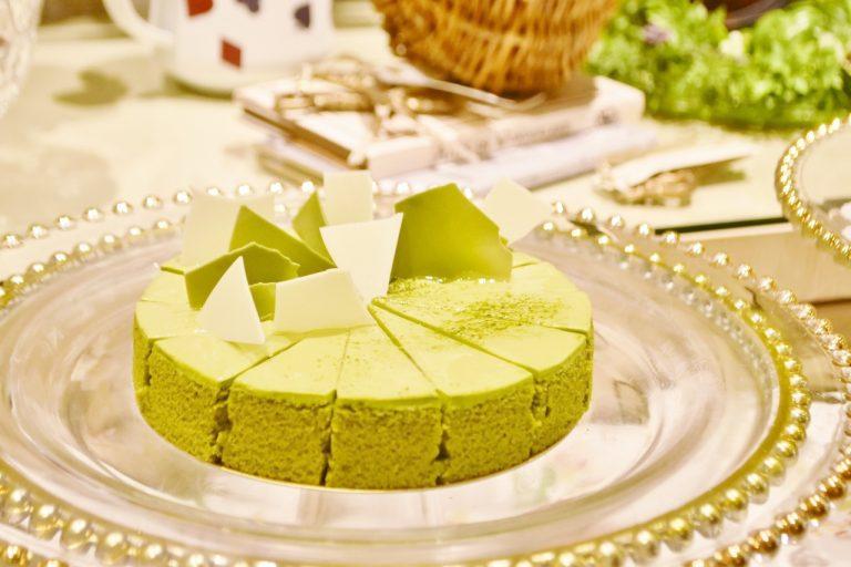 「抹茶のケーキ」。